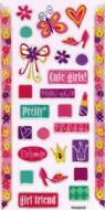 Cute Girls Crystal Sticker Toppers - PMA6504S
